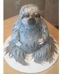 photo  3D Sloth cake tutorial