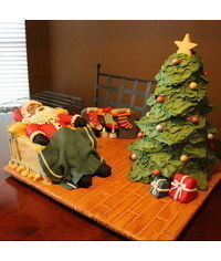 photo   Santa and Christmas tree cake tutorial