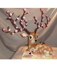 photo  3D Deer cake tutorial