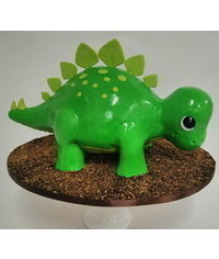 photo Carved Dinosaur Cake tutorial