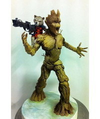 photo Rocket Raccoon and  Groot figures step by step