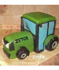 photo 3D Tractor cake tutorial