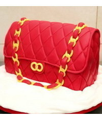 photo Carved 3D handbag cake