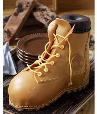 photo How to make a work boot cake