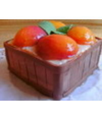 photo A box of peaches