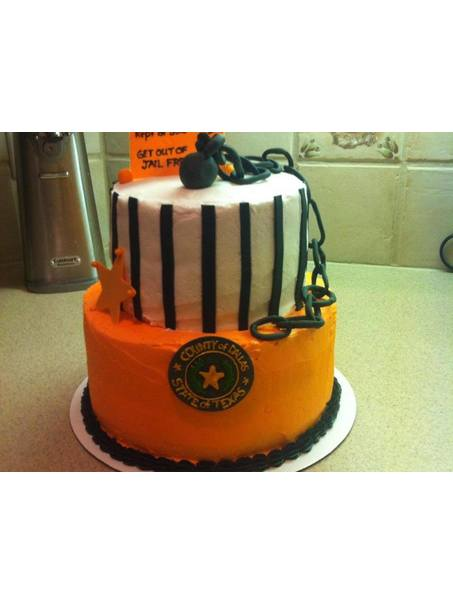 Cake for an employee who was leaving a position in the jail.