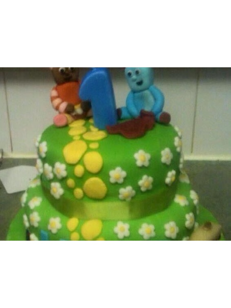 In the night garden cake made for my sons first birthday