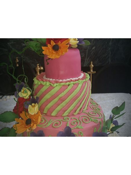 This is the cake I made to look like the one on my painting (see separate photo)