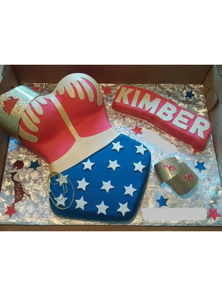 1/2 Sheet Delta Sigma Theta themed Wonder Woman Cake