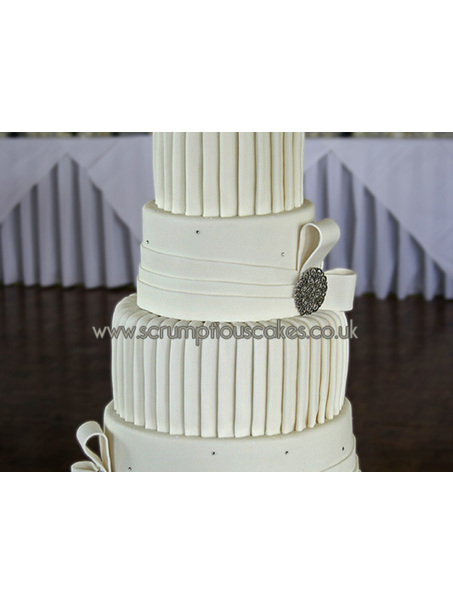 Pleats and Bands Wedding Cake - PJ x