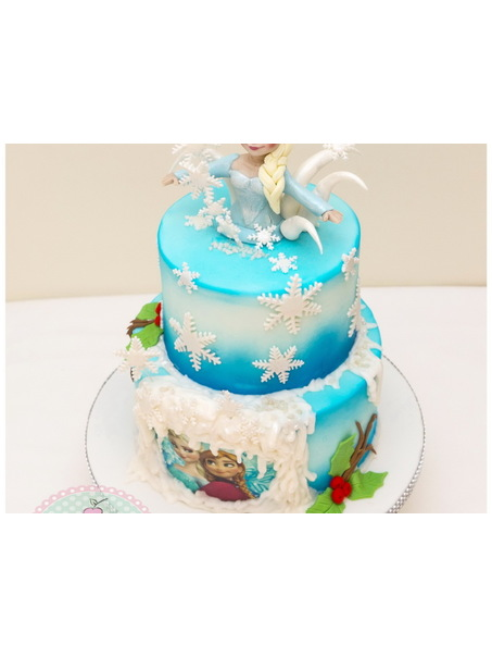 Frozen cake inspired by Galia Hristova cakes.