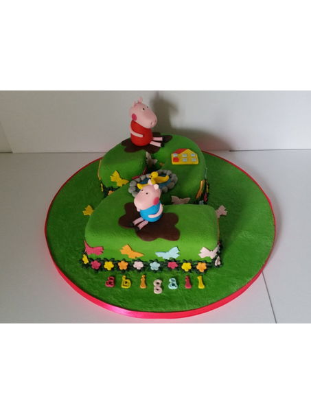 A number 2 peppa pig cake for a Huddersfield customer.
