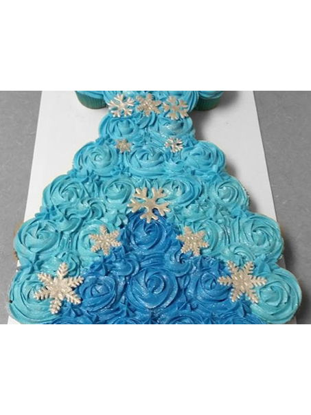 Here i had another Frozen Request, this one was for a cupcake dress for a frozen princess party!