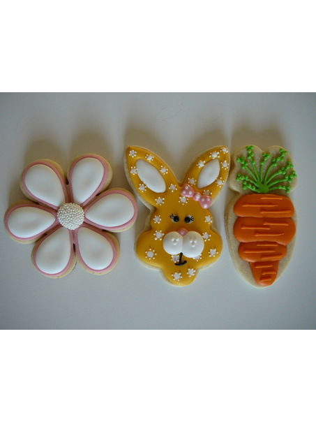 Girly bunny easter cookies