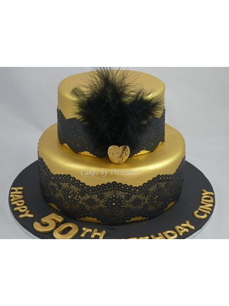 This was a 9 and 6 inch chocolate mud cake with