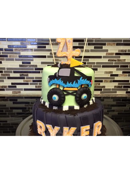 Cake for a Monster truck loving kid