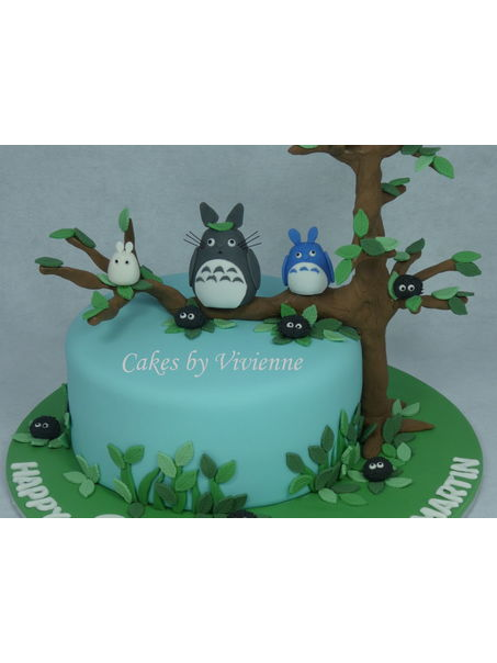 8 inch chocolate mud cake with caramel centre. All fondant decorations.