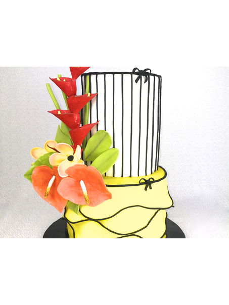 Absolutely loved making these tropical anthurium and heliconias flowers! TFL!!