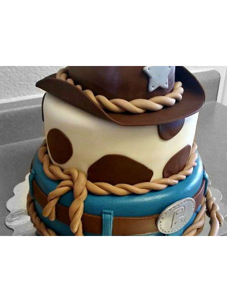 This western cake was actually made for a memorial service.