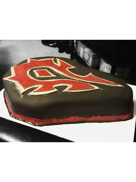 This is a Horde Birthday cake made for a World of Warcraft Lover