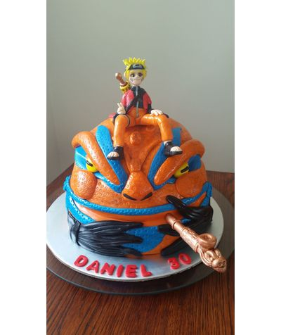 Naruto Anime Cake For Dans 30t How To Make