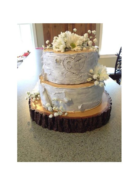 Birch Tree Wedding Cake how to make