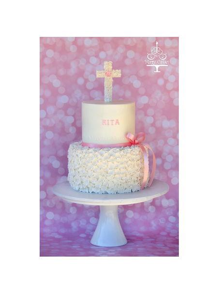 Baby Girl Baptism Cake How To Make