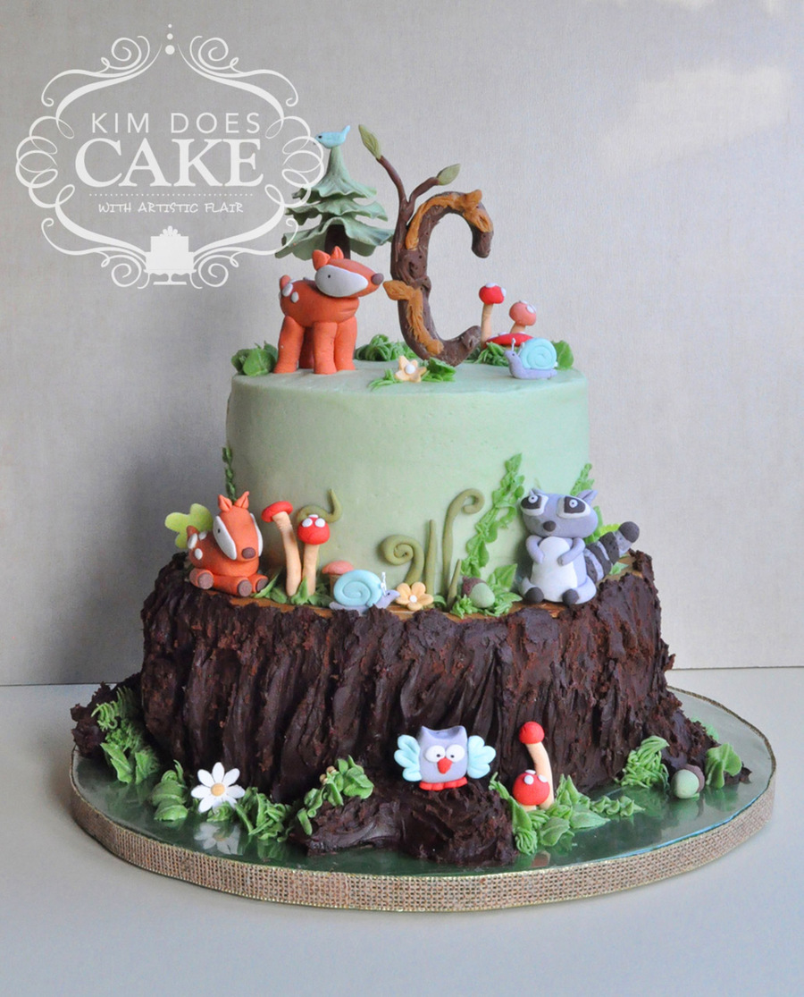 cake woodland themed baby shower cake distinct beauty of the woodland