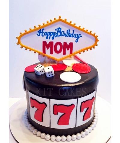 Las Vegas Casino Birthday Cake